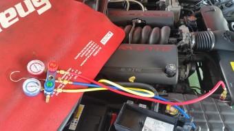 アメ車のエアコン修理01